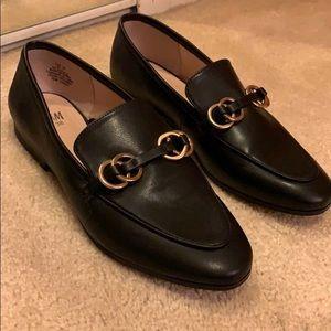 H&M Black Leather Buckled Loafer